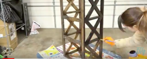 Watch How She Transforms A Huge Wooden Light Fixture Into A Fabulous Coffee Table!
