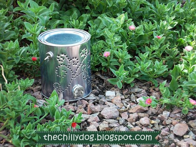 DIY Garden Decor Ideas - Crafts for Outdoors - DYI Garden Ornaments to Make for Backyard Decoration - Thrift Store Crafts - DYI Paint Can Lantern Luminary Tutorial