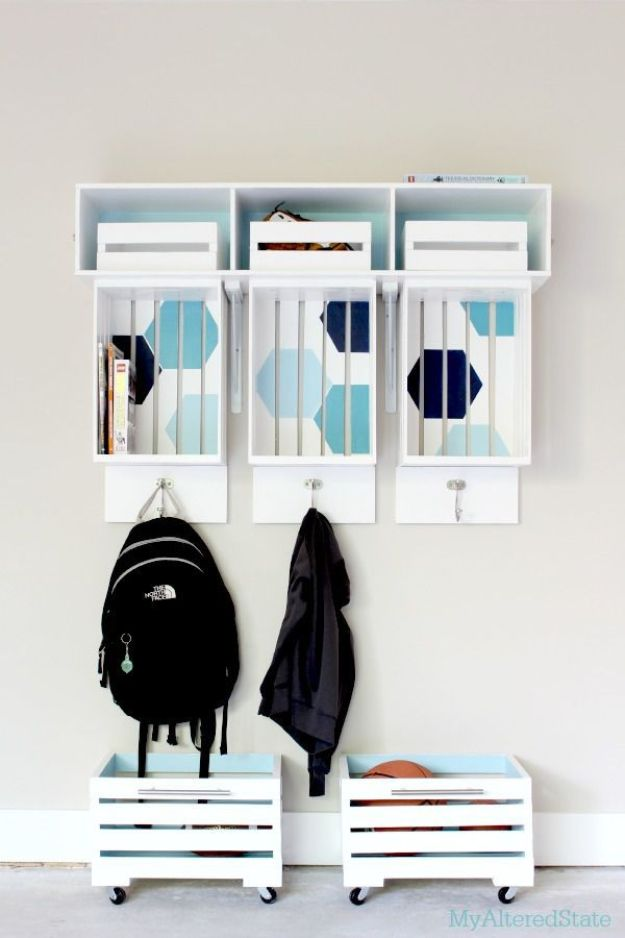 Mudroom Crate Storage