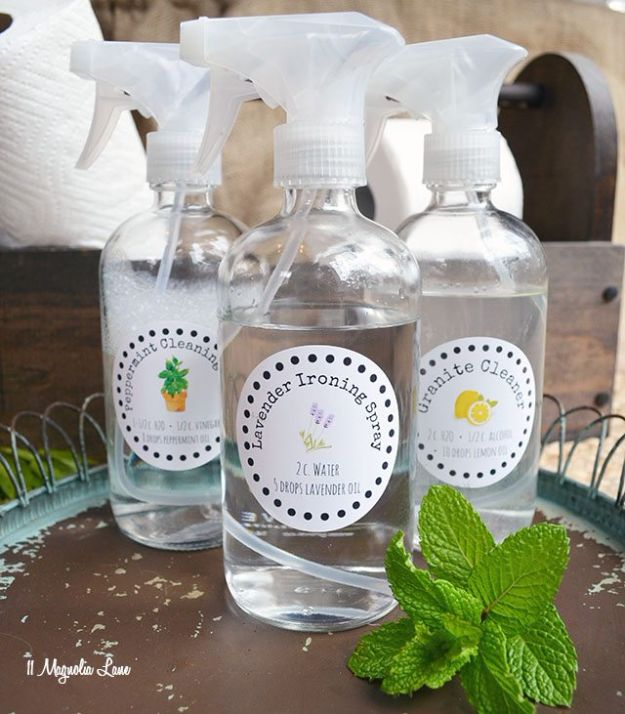 Homemade Cleaning Products - Natural Cleaner Recipes - DIY Cleaners With Recipe and Tutorial - Make DIY Natural and ll Purpose Cleaner Recipes for Home With Vinegar, Essential Oils