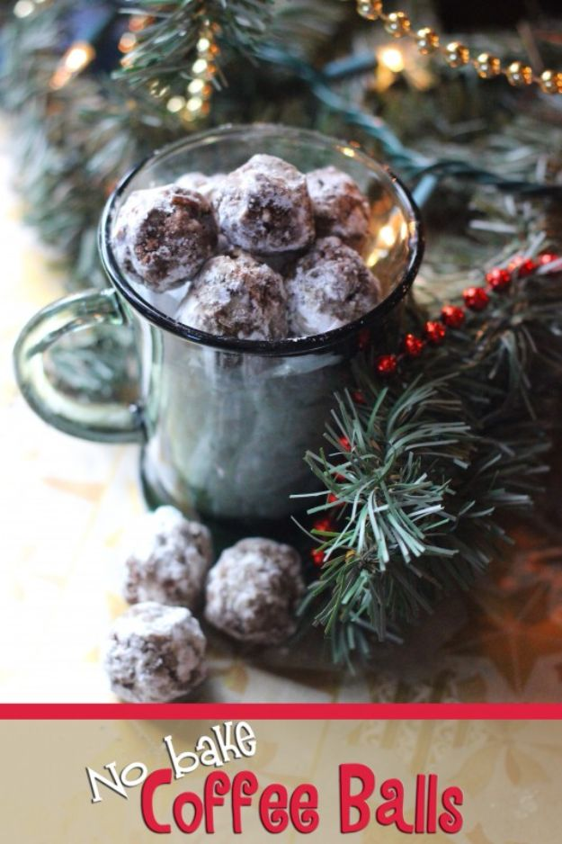 Coffee Drink Recipes - No Bake Coffee Balls - Easy Drinks and Coffees To Make At Home - Frozen, Iced, Cold Brew and Hot Coffee Recipe Ideas - Sugar Free, Low Fat and Blended Drinks - Mocha, Frappucino, Caramel, Chocolate, Latte and Americano - Flavored Coffee, Liqueur and After Dinner Drinks With Alcohol, Dessert Ideas for Parties #coffeedrinks #coffeerecipes #coffee #drinkrecipes