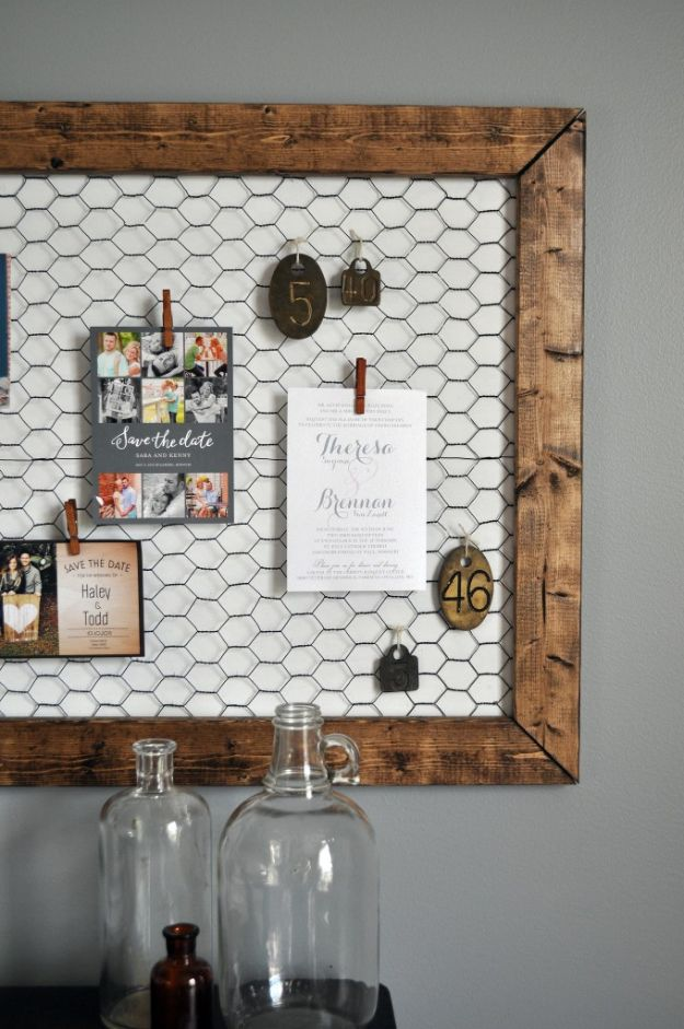 DIY Modern Home Decor - Office Memo Board - Room Ideas, Wall Art on A Budget, Farmhouse Style Projects - Easy DIY Ideas and Decorations for Apartments, Living Room, Bedroom, Kitchen and Bath - Fixer Upper Tips and Tricks