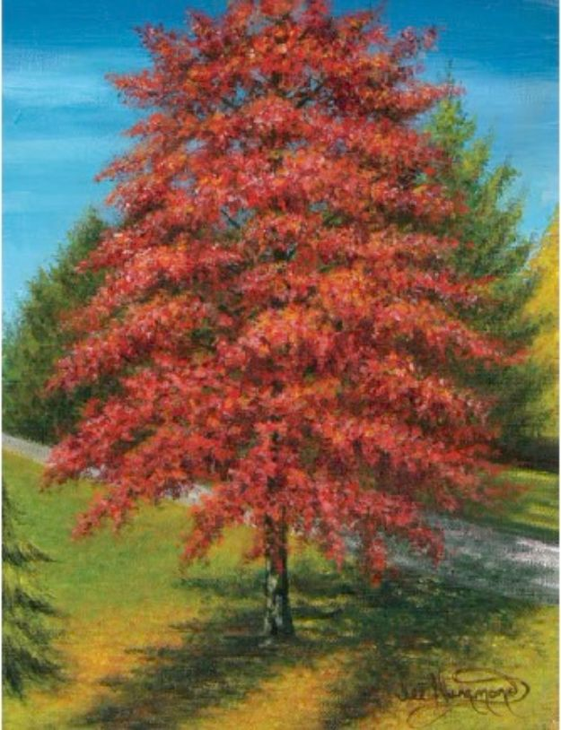 Acrylic Painting Tutorials and Techniques - Paint An Autumn Tree In Acrylic - How To Paint With Acrylic Paint- DIY Acrylic Painting Ideas on Canvas - Make Flowers, Ocean, Sky, Abstract People, Landscapes, Buildings, Animals, Portraits, Sunset With Acrylics - Step by Step Art Lessons for Beginners - Easy Video Tutorials and How To for Acrylic Paintings #art #painting