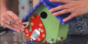 Make This Cute Bird House To Add Something Fun And Colorful To Your Yard!