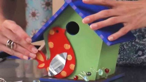 Make This Cute Bird House To Add Something Fun And Colorful To Your Yard! | DIY Joy Projects and Crafts Ideas