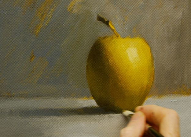Acrylic Painting Tutorials and Techniques - Painting An Apple In Acrylics - DIY Acrylic Painting Ideas on Canvas - Make Flowers, Ocean, Sky, Abstract People, Landscapes, Buildings, Animals, Portraits, Sunset With Acrylics - Step by Step Art Lessons for Beginners - Easy Video Tutorials and How To for Acrylic Paintings #art #painting