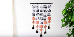 Displaying Photos Can Take Up A Lot Of Space So She Makes This Cleverly Cool Item!