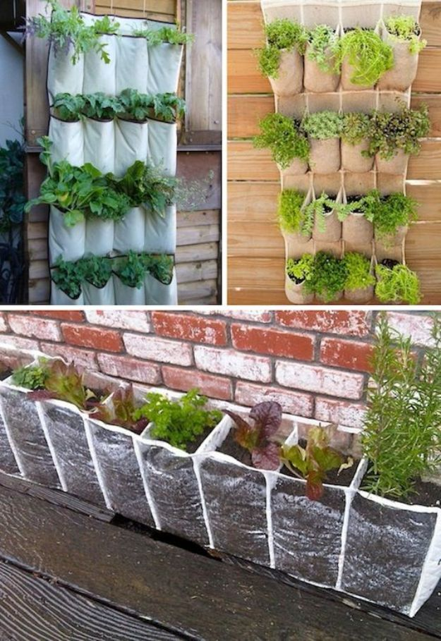 DIY Plant Hangers - Repurposed Hanging Pocket Shoe Holder - Cute and Easy Home Decor Ideas for Plants - How To Make Planters, Hanging Pot Holders, Wire, Rope and Baskets - Quick DIY Gifts Ideas, Macrame Plant Hanger #gardening #plants #diyideas
