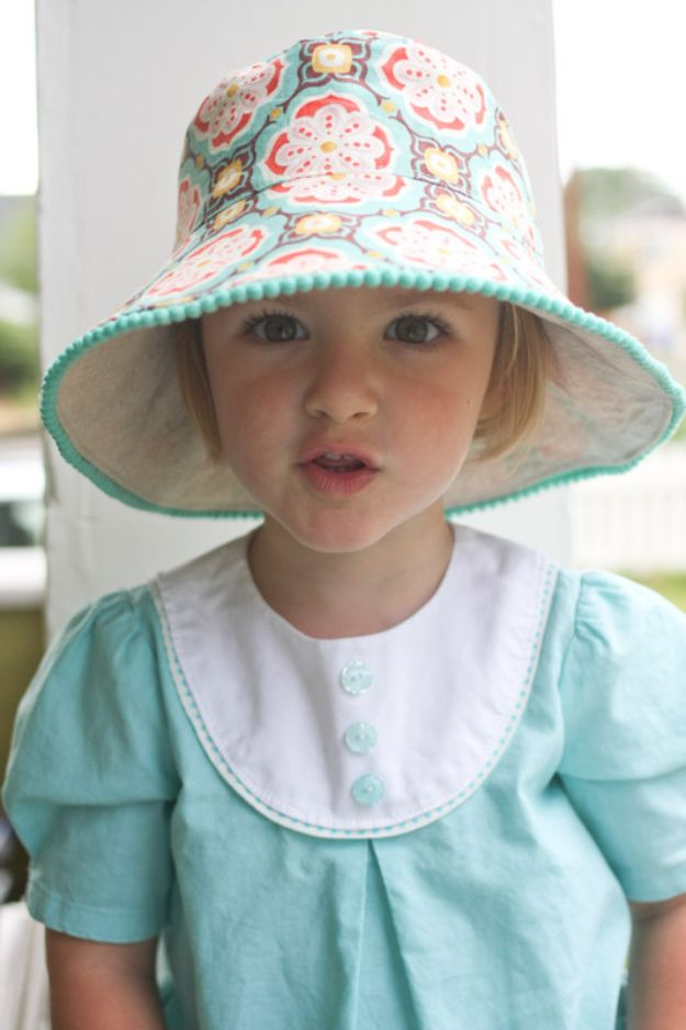 Cool Things To Sew For Summer - Reversible Bucket Hat - Easy Dresses, Cute Skirts, Maxi Dress, Shorts, Pants and Tops