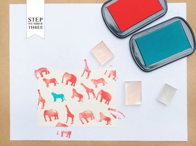 DIY Stationery Ideas - Rubber Stamped Kid's Animal Stationery - Easy Projects for Making, Decorating and Embellishing Stationary - Cute Personal Papers and Cards With Creative Art Ideas and Designs - Monogram and Brush Lettering Tips and Tutorials for Envelopes and Notebook - Stencil, Marble, Paint and Ink, Emboss Tutorials - A Handmade Card Set or Box Makes An Awesome DIY Gift Idea - Printables and Cool Ideas for Kids http://diyjoy.com/diy-stationery-ideas