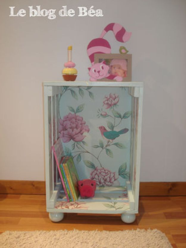 Shabby Chic Crate Side Table