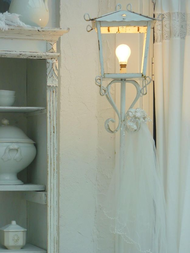 All White DIY Room Decor - Shabby Chic Living Room with a Veil - Creative Home Decor Ideas for the Bedroom and Living Room, Kitchen and Bathroom - Do It Yourself Crafts and White Wall Art, Bedding, Curtains, Lamps, Lighting, Rugs and Accessories - Easy Room Decoration Ideas for Modern, Vintage Farmhouse and Minimalist Furnishings - Furniture, Wall Art and DIY Projects With Step by Step Tutorials and Instructions http://diyjoy.com/all-white-decor-ideas