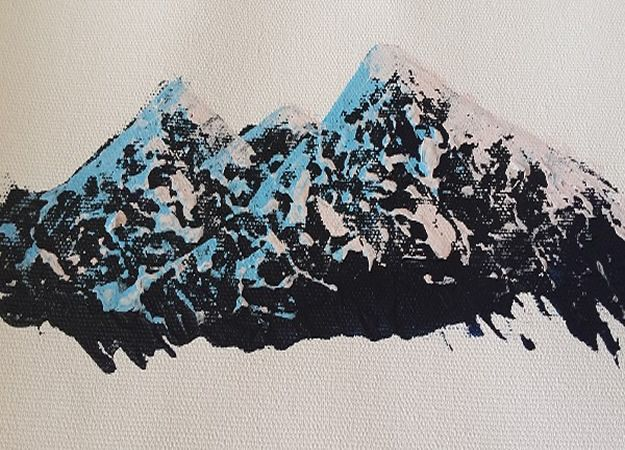 Acrylic Painting Tutorials and Techniques - Super Simple Trick To Paint Realistic Mountain Ranges Acrylic Painting Tutorial - How To Paint With Acrylic Paint- DIY Acrylic Painting Ideas on Canvas - Make Flowers, Ocean, Sky, Abstract People, Landscapes, Buildings, Animals, Portraits, Sunset With Acrylics - Step by Step Art Lessons for Beginners - Easy Video Tutorials and How To for Acrylic Paintings #art #painting