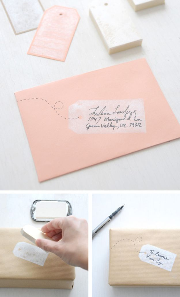 DIY Stationery Ideas - Tag Shaped Stamps - Easy Projects for Making, Decorating and Embellishing Stationary - Cute Personal Papers and Cards With Creative Art Ideas and Designs - Monogram and Brush Lettering Tips and Tutorials for Envelopes and Notebook - Stencil, Marble, Paint and Ink, Emboss Tutorials - A Handmade Card Set or Box Makes An Awesome DIY Gift Idea - Printables and Cool Ideas for Kids http://diyjoy.com/diy-stationery-ideas
