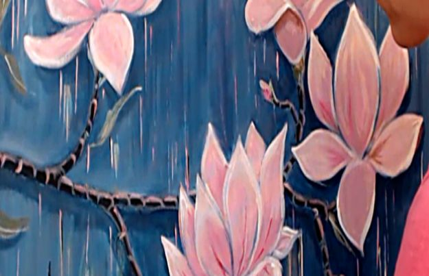 Acrylic Painting Tutorials and Techniques - The Blooming Magnolia Branch Acrylic Art Lesson - How To Paint With Acrylic Paint- DIY Acrylic Painting Ideas on Canvas - Make Flowers, Ocean, Sky, Abstract People, Landscapes, Buildings, Animals, Portraits, Sunset With Acrylics - Step by Step Art Lessons for Beginners - Easy Video Tutorials and How To for Acrylic Paintings #art #painting
