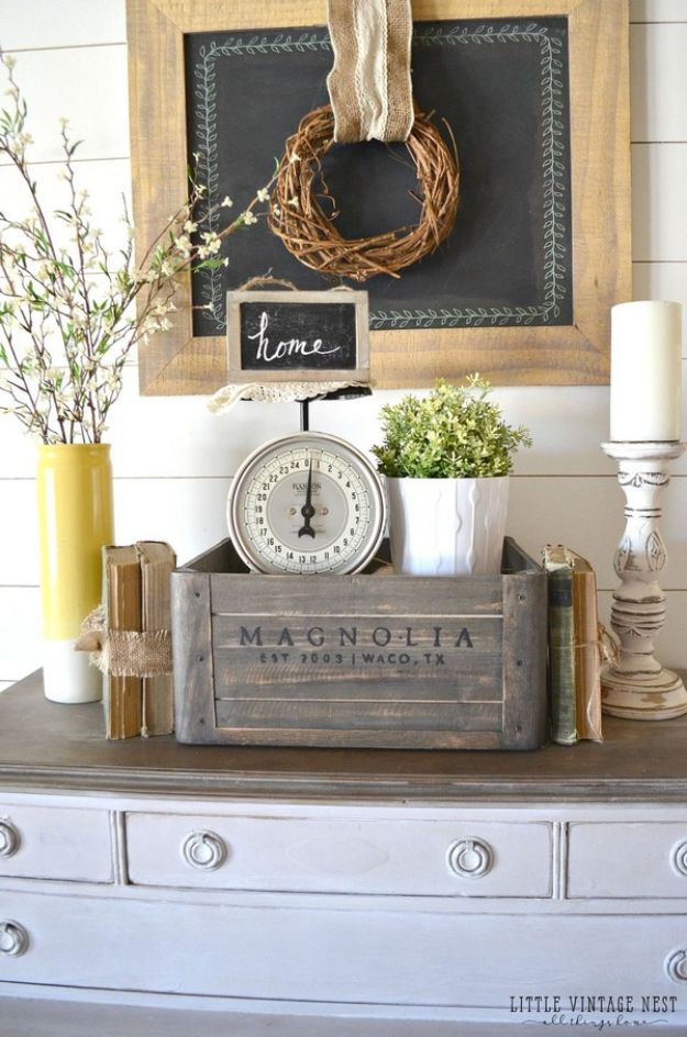 Vintage Style Crate Decor