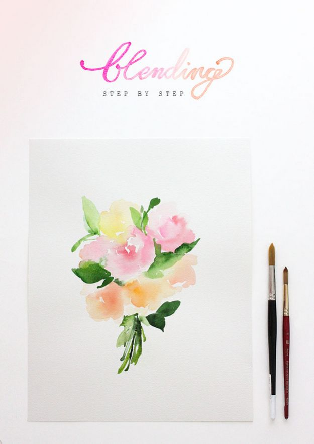 Watercolor Tutorials and Techniques - Watercolor Tutorial Blending - Make Watercolor Flowers, Ocean, Sky, Abstract People, Landscapes, Buildings, Animals, Portraits, Sunset - Step by Step Art Lessons for Beginners - Easy Video Tutorials and How To for Watercolors and Paint Washes #art