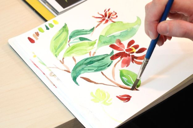Watercolor Tutorials and Techniques - Watercolor Tutorial Plants - Make Watercolor Flowers, Ocean, Sky, Abstract People, Landscapes, Buildings, Animals, Portraits, Sunset - Step by Step Art Lessons for Beginners - Easy Video Tutorials and How To for Watercolors and Paint Washes #art