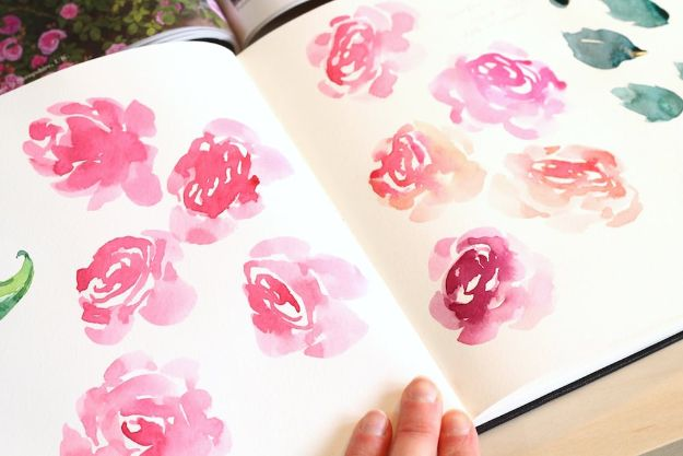 Watercolor Tutorials and Techniques - Watercolor Tutorial Roses - How To Paint With Watercolor - Make Watercolor Flowers, Ocean, Sky, Abstract People, Landscapes, Buildings, Animals, Portraits, Sunset - Step by Step Art Lessons for Beginners - Easy Video Tutorials and How To for Watercolors and Paint Washes #art