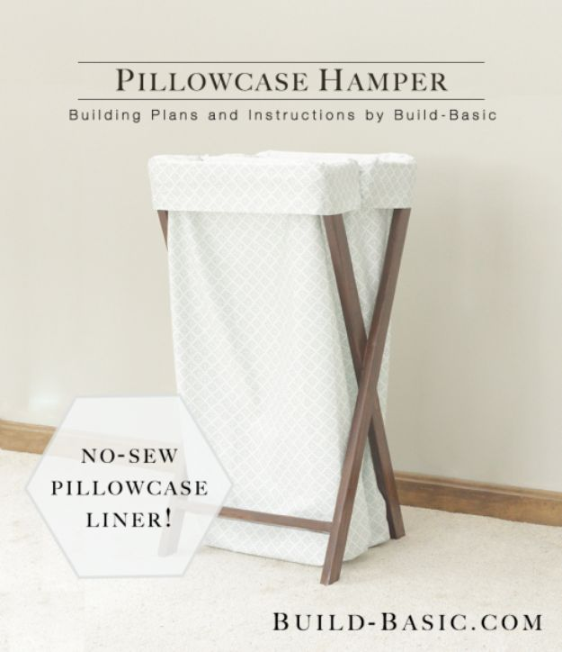 All White DIY Room Decor - White Pillowcase Hamper - Creative Home Decor Ideas for the Bedroom and Living Room, Kitchen and Bathroom - Do It Yourself Crafts and White Wall Art, Bedding, Curtains, Lamps, Lighting, Rugs and Accessories - Easy Room Decoration Ideas for Modern, Vintage Farmhouse and Minimalist Furnishings - Furniture, Wall Art and DIY Projects With Step by Step Tutorials and Instructions #diydecor