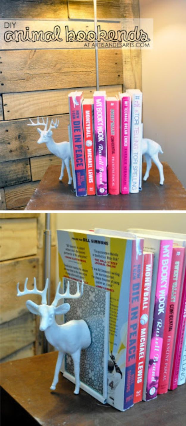All White DIY Room Decor - White Plastic Animal Bookends - Creative Home Decor Ideas for the Bedroom and Living Room, Kitchen and Bathroom - Do It Yourself Crafts and White Wall Art, Bedding, Curtains, Lamps, Lighting, Rugs and Accessories - Easy Room Decoration Ideas for Modern, Vintage Farmhouse and Minimalist Furnishings - Furniture, Wall Art and DIY Projects With Step by Step Tutorials and Instructions #diydecor