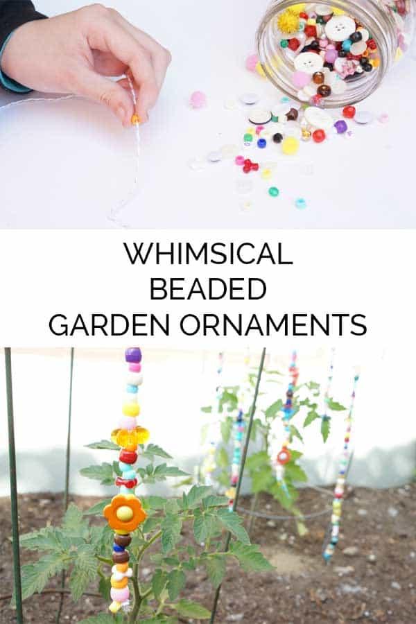 DIY Garden Decor Ideas - Crafts for Outdoors - DYI Garden Ornaments to Make for Backyard Decoration - Beaded Garden Ornament Tutorial