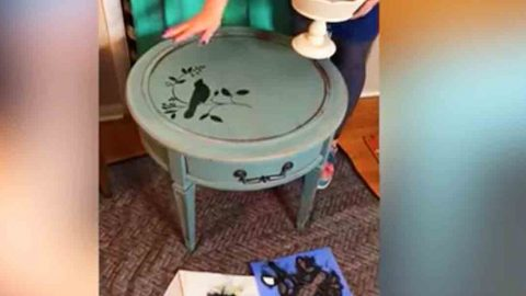 Watch How Paint Can Totally Transform Your Thrift Store End Tables! | DIY Joy Projects and Crafts Ideas