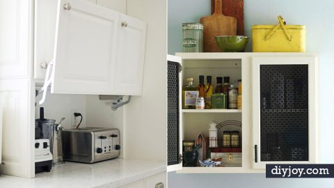 34 DIY Ideas For Kitchen Cabinets   DIY Joy Projects and Crafts Ideas