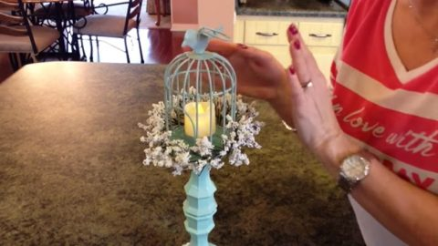Say Hello To Spring and Summer with This Birdcage Candle Holder | DIY Joy Projects and Crafts Ideas