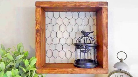 Easy Chicken Wire Shelf Is Storage And A Statement Piece | DIY Joy Projects and Crafts Ideas
