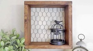 Easy Chicken Wire Shelf Is Storage And A Statement Piece
