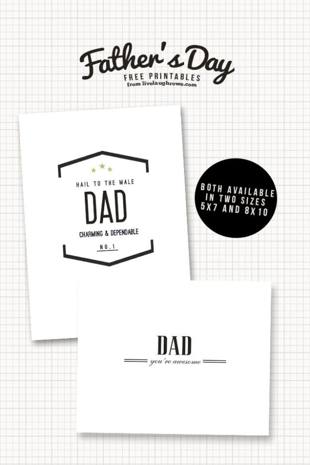 Best DIY Fathers Day Cards - Classic Father's Day - Easy Card Projects to Make for Dad - Cute and Quick Things To Make For Your Father - Paper, Cardboard, Gift Card, Cool Ideas for Kids and Teens To Make - Funny, Thoughtful, Homemade Cards for Him http://diyjoy.com/diy-fathers-day-cards