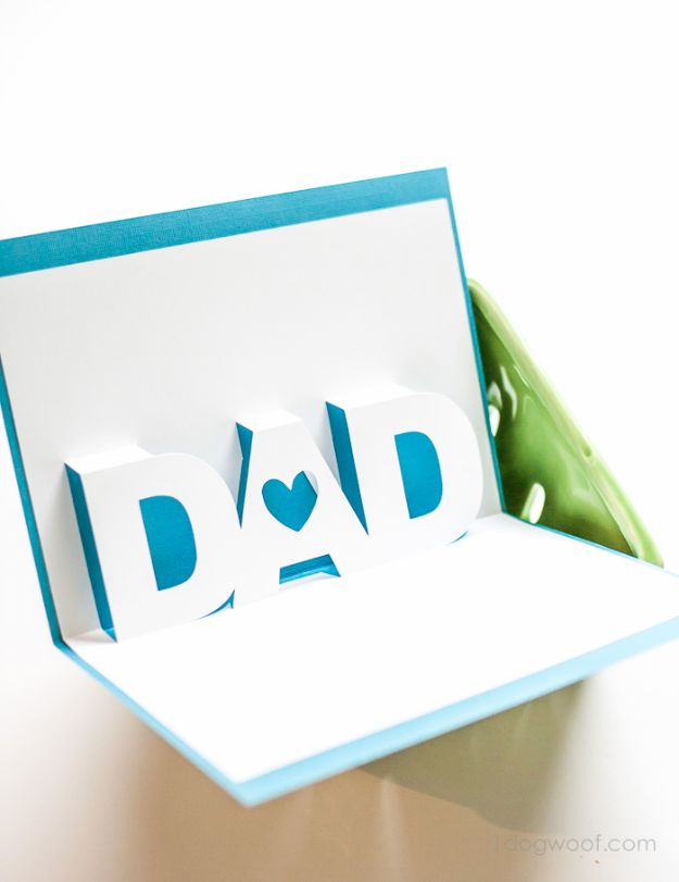 Best DIY Fathers Day Cards - Father's Day Pop Up Card - Easy Card Projects to Make for Dad - Cute and Quick Things To Make For Your Father - Paper, Cardboard, Gift Card, Cool Ideas for Kids and Teens To Make - Funny, Thoughtful, Homemade Cards for Him http://diyjoy.com/diy-fathers-day-cards