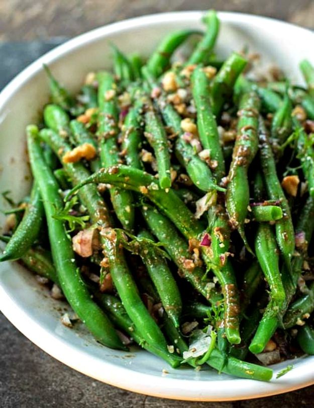Summer Salad Recipes - Fresh Green Bean Salad- Easy Salads to Make for Summer Dinners, Picnic, Barbecue and Take To Work Lunches - Grilled Foods, Fruits, Chicken, Tuna and and Shrimp Salad - Healthy Meals on A Budget - Vegetarian and Vegan Recipe Ideas - Homemade Salad Dressings and Fresh Ingredients make the Best Salads #salads #saladrecipes #lunchrecipes #recipes #summe