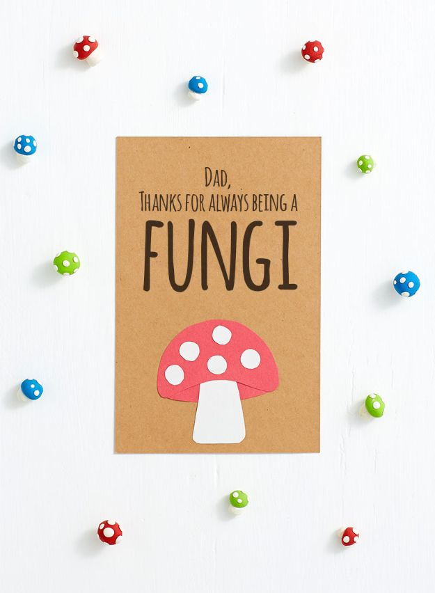 Best DIY Fathers Day Cards - Fun Father's Day Cards for Dad - Easy Card Projects to Make for Dad - Cute and Quick Things To Make For Your Father - Paper, Cardboard, Gift Card, Cool Ideas for Kids and Teens To Make - Funny, Thoughtful, Homemade Cards for Him http://diyjoy.com/diy-fathers-day-cards