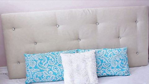 Don't Buy An Expensive Tufted Headboard— DIY An Easy $30 Version | DIY Joy Projects and Crafts Ideas