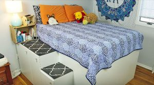 Add 70 Cubic Feet Of Space To Your Room With This DIY Bed Frame
