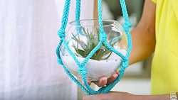 If You Can Tie A Knot, You Can Make This 5 Minute Macrame Planter | DIY Joy Projects and Crafts Ideas