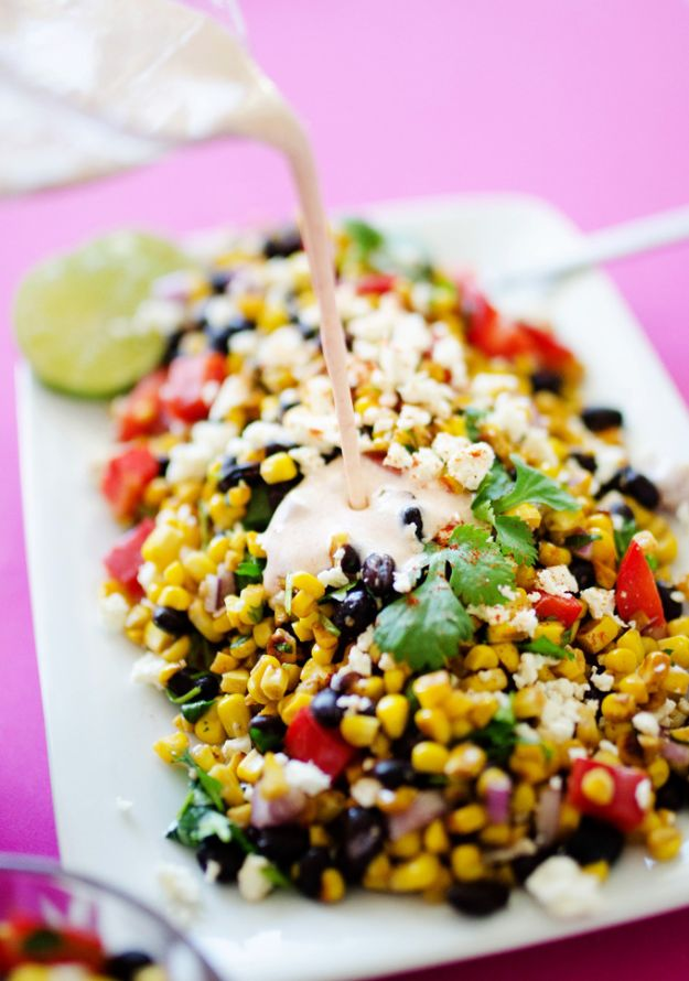 Summer Salad Recipes - Mexican Street Corn Salad - Easy Salads to Make for Summer Dinners, Picnic, Barbecue and Take To Work Lunches - Grilled Foods, Fruits, Chicken, Tuna and and Shrimp Salad - Healthy Meals on A Budget - Vegetarian and Vegan Recipe Ideas - Homemade Salad Dressings and Fresh Ingredients make the Best Salads #salads #saladrecipes #lunchrecipes #recipes #summer http://diyjoy.com/summer-salad-recipes