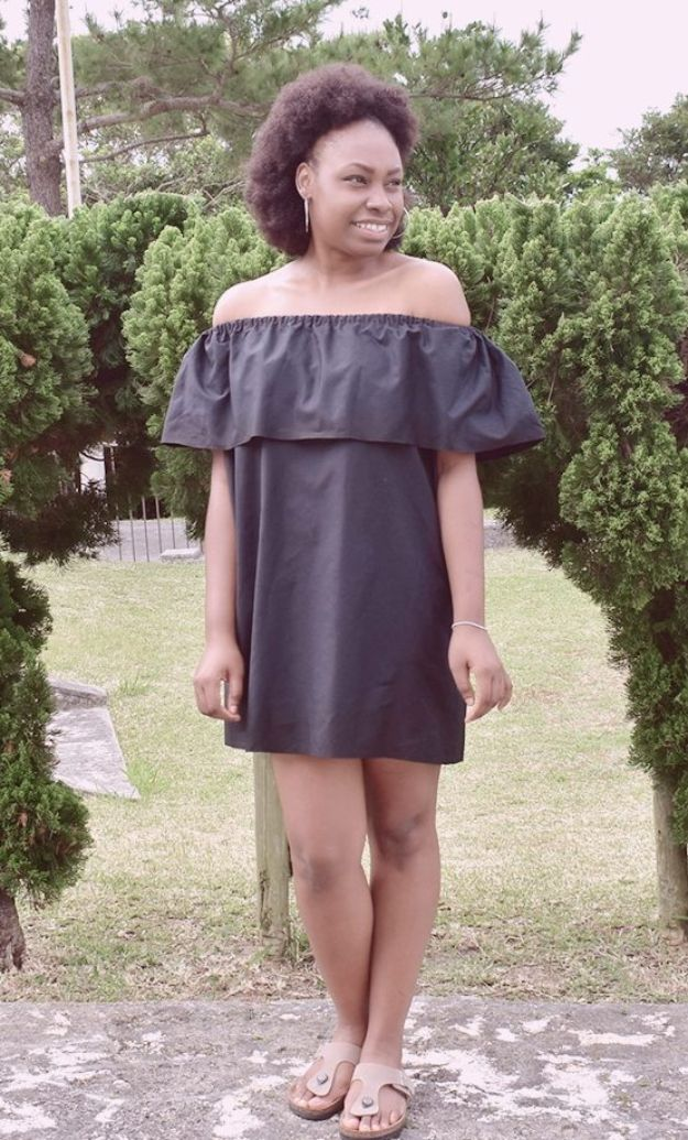 DIY Fashion for Spring - Off the Shoulder Dress - Easy Homemade Clothing Tutorials and Things To Make To Wear - Cute Patterns and Projects for Women to Make, T-Shirts, Skirts, Dresses, Shorts and Ideas for Jeans and Pants - Tops, Tanks and Tees With Free Tutorial Ideas and Instructions http://diyjoy.com/fashion-for-spring