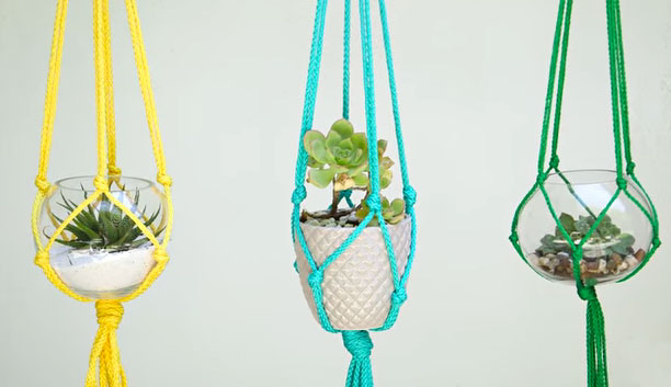 Quick and Easy Macrame Planter Tutorial