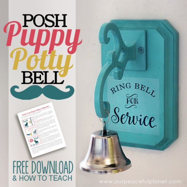 DIY Ideas With Dogs - Posh Puppy Potty Bell - Cute and Easy DIY Projects for Dog Lovers - Wall and Home Decor Projects, Things To Make and Sell on Etsy - Quick Gifts to Make for Friends Who Have Puppies and Doggies - Homemade No Sew Projects- Fun Jewelry, Cool Clothes and Accessories #dogs #crafts #diyideas