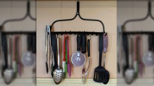 Repurpose Your Rake Into This Adorable Storage Rack For Free