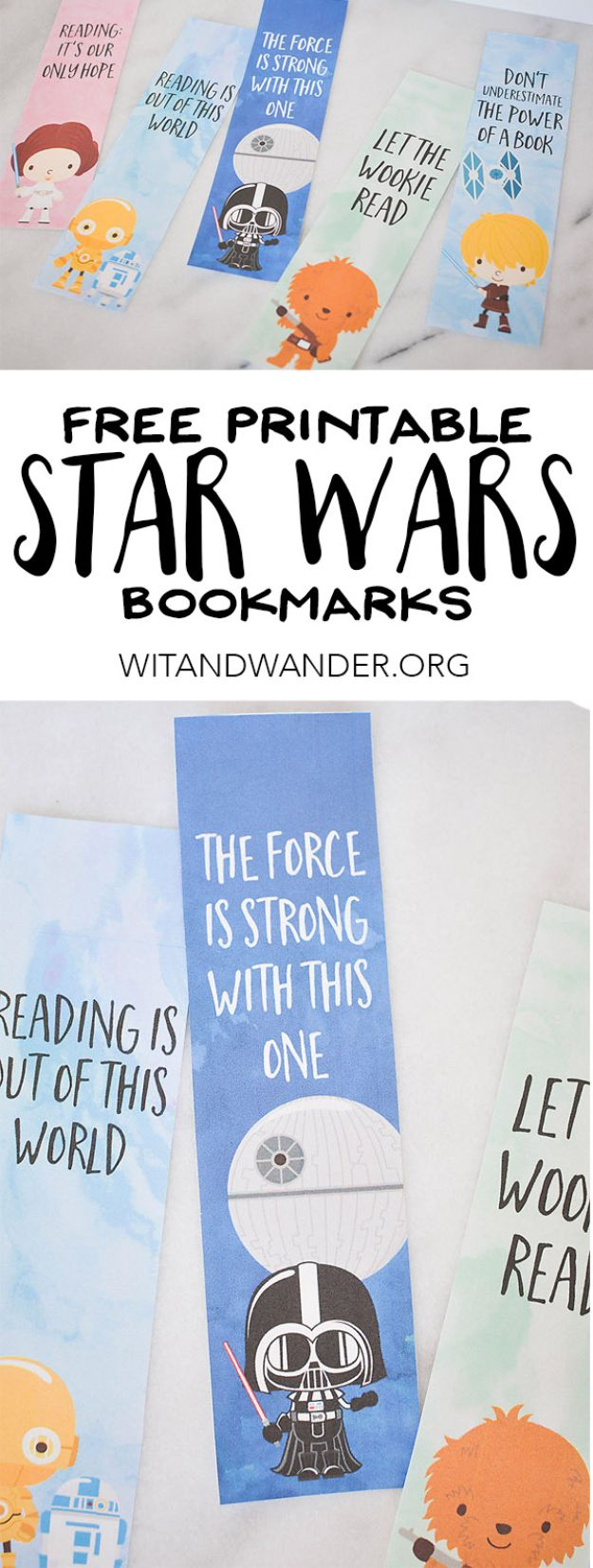 Best Free Printables for Crafts - Star Wars Bookmark Free Printable - Quotes, Templates, Paper Projects and Cards, DIY Gifts Cards, Stickers and Wall Art You Can Print At Home - Use These Fun Do It Yourself Template and Craft Ideas for Your Next Craft Projects - Cute Arts and Crafts Ideas for Kids and Adults to Make on Printer / Printable http://diyjoy.com/best-free-printables-crafts