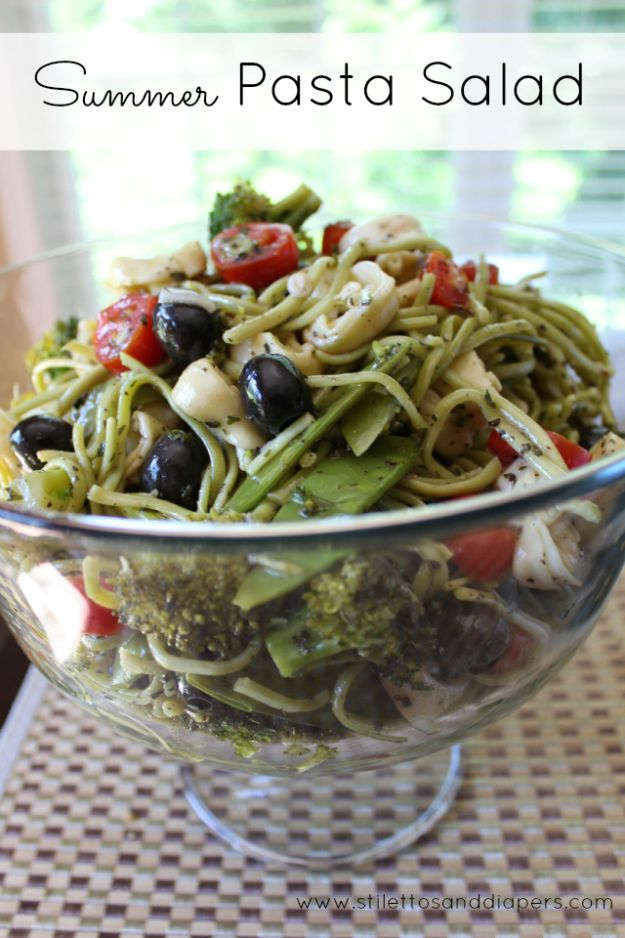 Summer Salad Recipes - Summer Pasta Salad - Easy Salads to Make for Summer Dinners, Picnic, Barbecue and Take To Work Lunches - Grilled Foods, Fruits, Chicken, Tuna and and Shrimp Salad - Healthy Meals on A Budget - Vegetarian and Vegan Recipe Ideas - Homemade Salad Dressings and Fresh Ingredients make the Best Salads #salads #saladrecipes #lunchrecipes #recipes #summer http://diyjoy.com/summer-salad-recipes