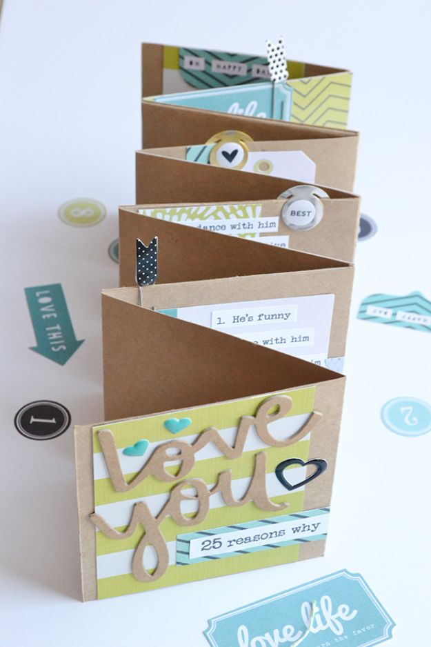 Best DIY Fathers Day Cards - Template Studio Father's Day Mini Album Card - Easy Card Projects to Make for Dad - Cute and Quick Things To Make For Your Father - Paper, Cardboard, Gift Card, Cool Ideas for Kids and Teens To Make - Funny, Thoughtful, Homemade Cards for Him