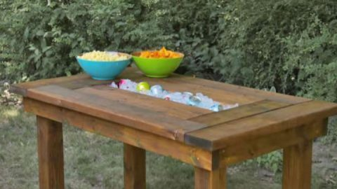 The Best Backyard BBQs Have This DIY Trough Table | DIY Joy Projects and Crafts Ideas