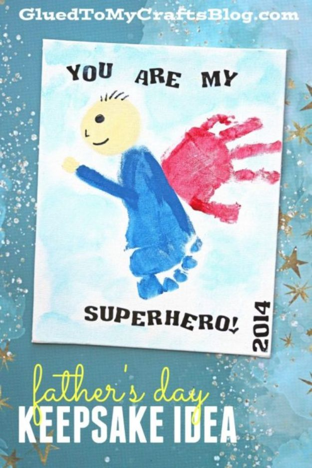 Best DIY Fathers Day Cards - You Are My Superhero Father's Day Card - Easy Card Projects to Make for Dad - Cute and Quick Things To Make For Your Father - Paper, Cardboard, Gift Card, Cool Ideas for Kids and Teens To Make - Funny, Thoughtful, Homemade Cards for Him http://diyjoy.com/diy-fathers-day-cards