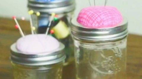Hands Down, The Best Mason Jar Craft For Everyone Who Loves To Sew | DIY Joy Projects and Crafts Ideas