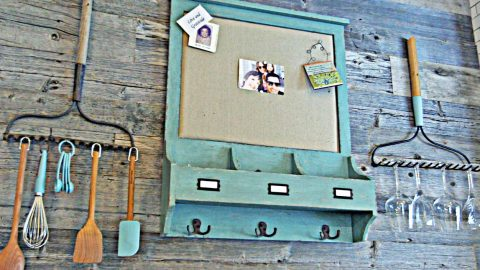 Repurpose Your Rake Into This Adorable Storage Rack For Free | DIY Joy Projects and Crafts Ideas